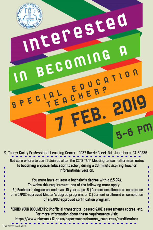 Special Education Teacher information meeting